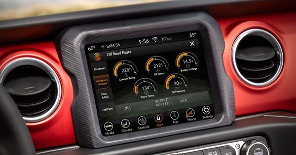 Display Close Up Of The Uconnect System With Offroad Pages