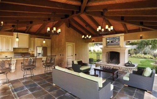 Love the outdoor kitchen. A dream home in California isn't quite complete