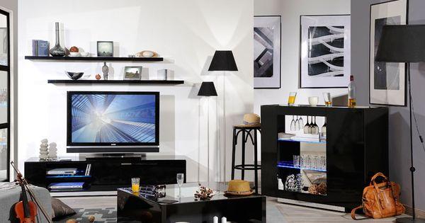 Muebles de salon verso ambiente negro inspiraci n - Inspiracion salones ...