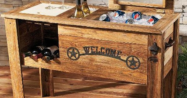 Patio Deck Cooler Plans How To Build A Wooden Cowboy