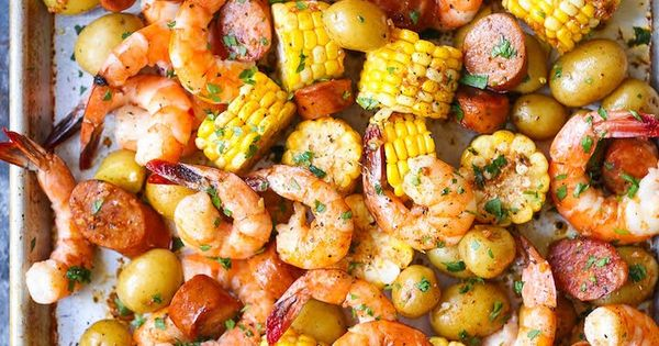 Sheet Pan Shrimp Boil Recipe Sheet Pan Shrimp And Easy