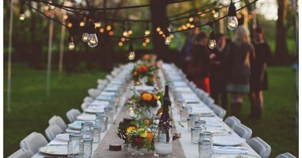mason jars outdoor dinner party - Google Search