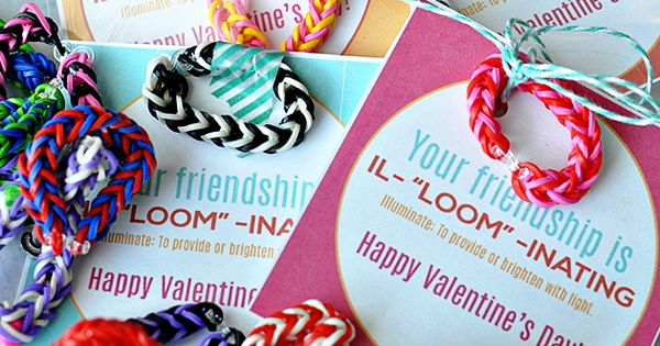 Valentine Bracelets Justin Toys : Loom valentine s day idea with printable card friendship