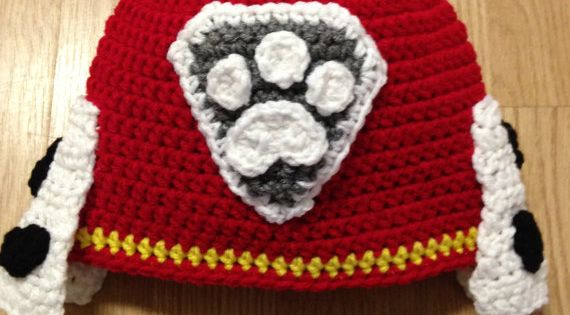 Paw Patrol Marshall Crochet Hat by JessicaSayreCrochet on ...