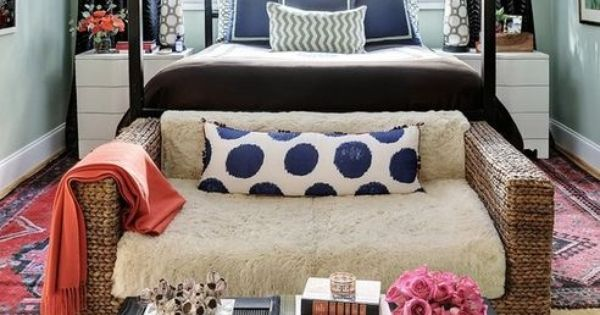 Working with a small master bedroom love seat seat at and foot of bed - Seat at foot of bed ...