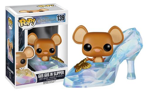 Disney Cinderella Live Action Movie Gus Gus in Slipper Pop! Vinyl Figure.