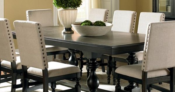 Leona Cottage Rectangular Antique Black Dining Table with  : 6a81ecc0d924b7eb8bf1cf30ea631481 from www.pinterest.com size 600 x 315 jpeg 32kB