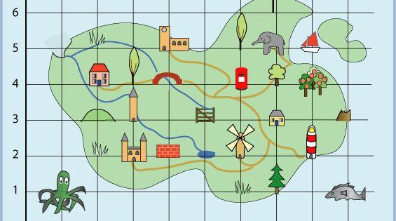 Treasure Island Nrich Maths Org Coordinates Math Mathematics Activities Map Skills