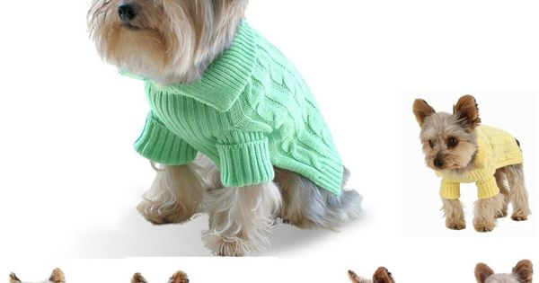 Dog Sweater Knitting Pattern For Small Dogs Stitch in Time Pinterest Sw...