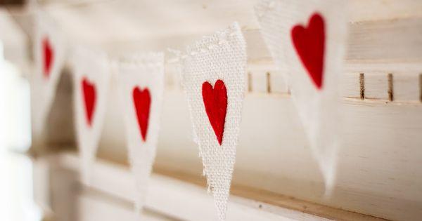 DIY Valentine's Banner {finley & oliver} valentine heart craft