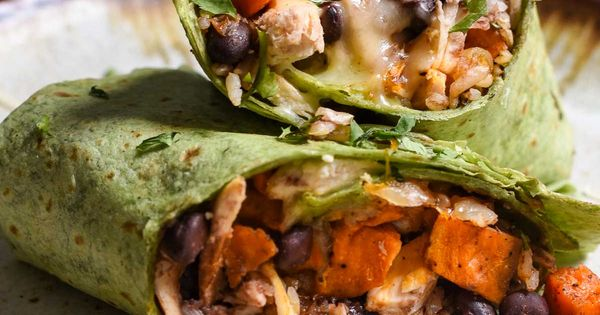 Sweet Potato Black Bean Burritos are loaded with protein ...