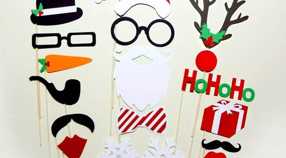 Photo Booth Props Christmas Holidays Party Props Set