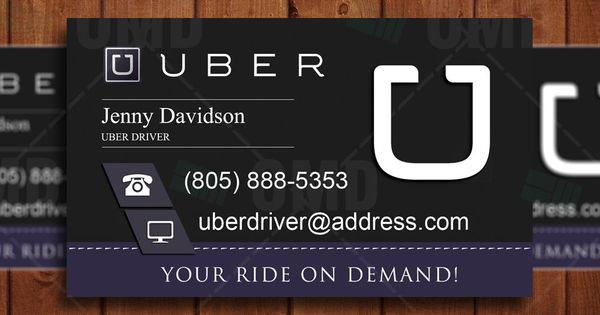 Uber Business Card Driver Branding Professional