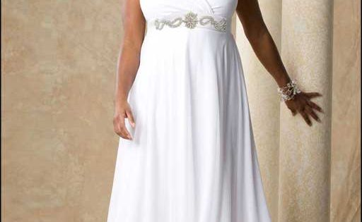 Plus Size White Evening Gowns Party Dresses Evening