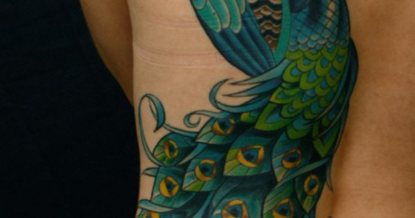 Beautiful peacock tattoo