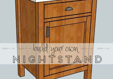 build your own nightstand with 18 free plans this plan is for a classic nightstand featuring. Black Bedroom Furniture Sets. Home Design Ideas