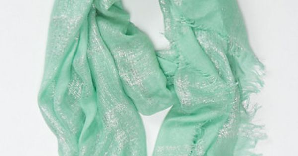 """Shimmer-Dusted"" Mint Scarf"