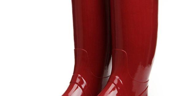 Zlyc Women's Knee High Rain Boots Galoshes 85