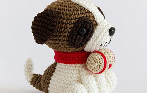 Gourmet Crochet Amigurumi Dinosaurs : Amigurumi Winter Wonderland - Saint Bernard dog ...