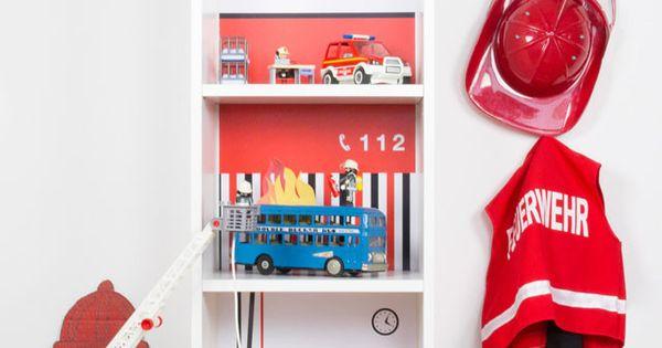 feuerwehr basteln feuerwache mit rutschstange flammen. Black Bedroom Furniture Sets. Home Design Ideas