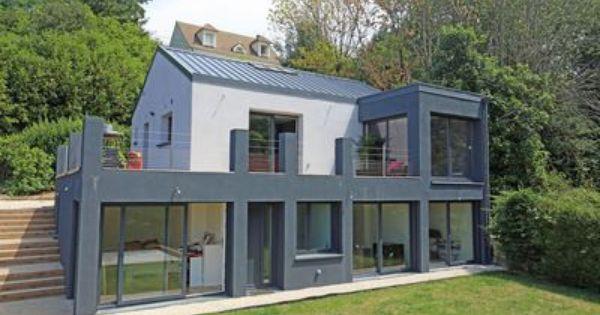 extension maison b ton de 47 m2 montmorency par une architecte verandas extensions and sons. Black Bedroom Furniture Sets. Home Design Ideas