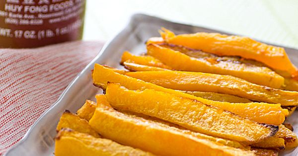 Baked Sriracha butternut fries