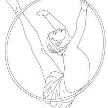Hoop Individual All Around Rythmic Gymnastics Coloring Page Coloring Page Sports Coloring Pages Coloring Pages Coloring Pages To Print