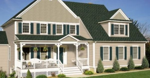 Same Idea On A Craftsmas Only With Hunter Accents Exterior Paint Colors For House Green Roof House Exterior House Paint Color Combinations