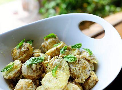 Creamy Lemon Basil Potato Salad | Recipe | Lemon basil and ...