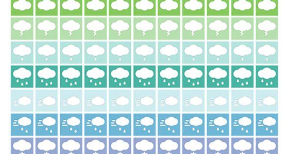 Stickers meteo, per agenda o calendario, stampabili gratis