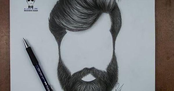كيفية رسم اللحية والشارب للرجل بالرصاص How To Draw A Beards Youtube How To Draw Hair Beard Drawing Realistic Hair Drawing