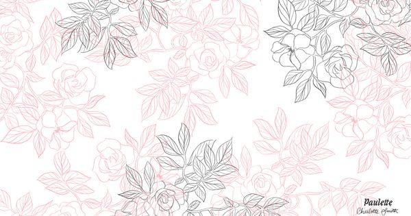 LES FONDS DCRAN DE PAULETTE Papier Peint Fleurs