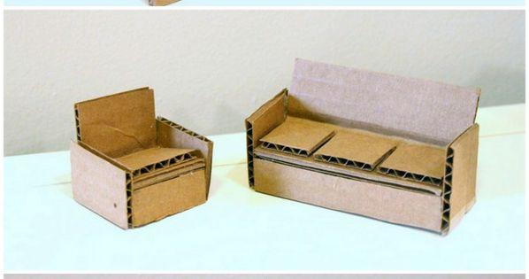 Мебель для кукол из коробок своими руками фото 216