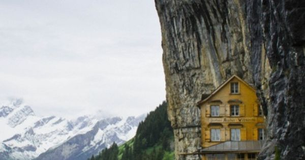 Lodge lodge in a mountain | Swiss Alps