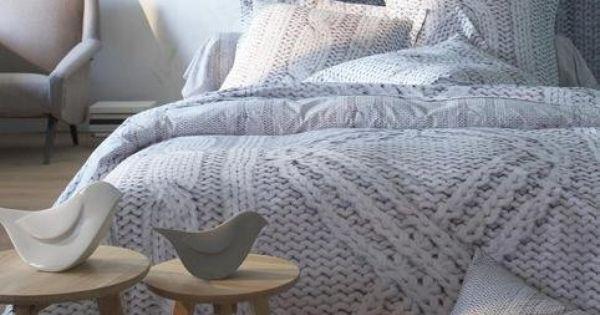 housse de couette motif maille irlandaise imprim vue 1. Black Bedroom Furniture Sets. Home Design Ideas