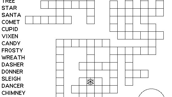 Crossword printable christmas games and puzzles for kids on pinterest