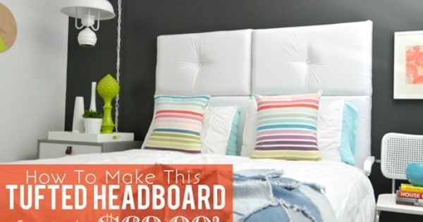 How To Make A Modern Tufted Headboard. Guest room.