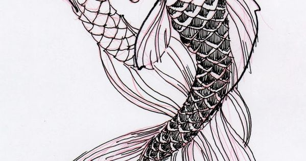 Two cool koi fish ink drawing stuff for school pinterest for Cool koi fish