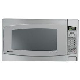 Ge 2 2 Cu Ft 1 200 Watt Countertop Microwave Stainless Steel Lowes Countertop Microwave Oven Stainless Steel Microwave Stainless Steel Oven