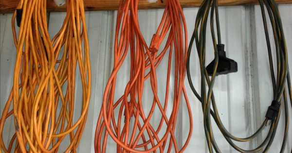 Tangled Extension Cords : Garage maintenance ideas http pinterest