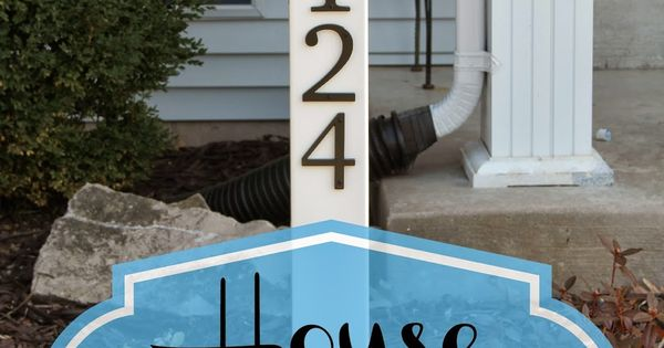 Simple Life of a Fire Wife: House Number Post -- we could