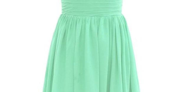Dressystar Short Bridesmaid Dress Chiffon Party Evening Dress Mint