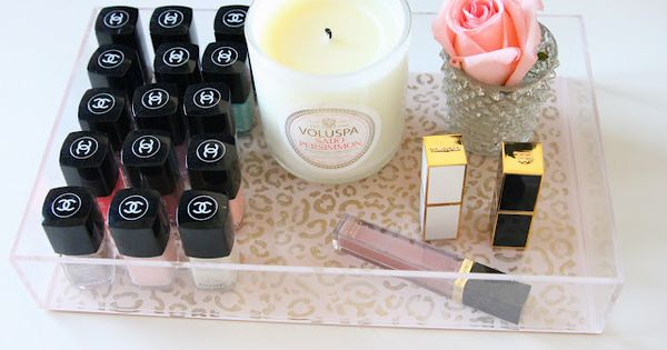 Nailpolish, candles, & lipstick