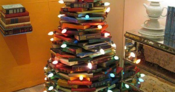 originality Christmas tree, book christmas tree, 2014 christmas tree for students 2014