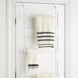 Umbra Bungee Over The Door Towel Rack With Images Small Bathroom Storage