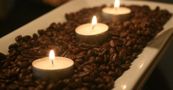 Coffe beans and tea lights...