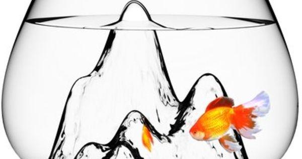 Mountain landscape fish bowl