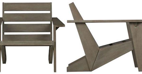 Cb2 Sawyer Adirondack Chair Rustic Furniture Modern Adirondack