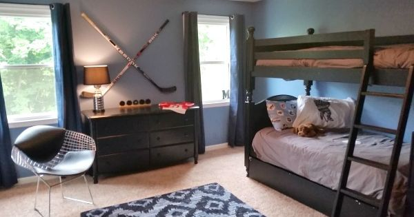 1000 Images About Children S Bedroom Ideas On Pinterest: Hockey Themed Bedroom For Boy