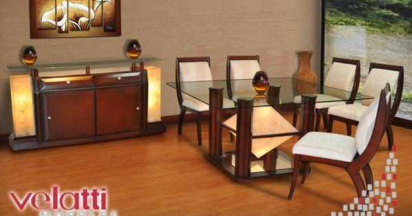 Comedor luxor comedores modernos comdores onix for Comedores elegantes